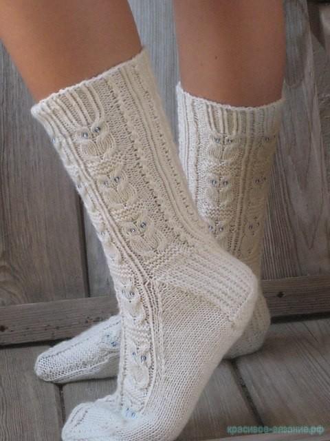 Вязание носков спицами с