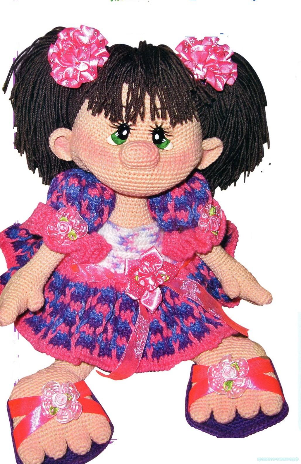 Вязаная кукла. Автор Мария Соскова