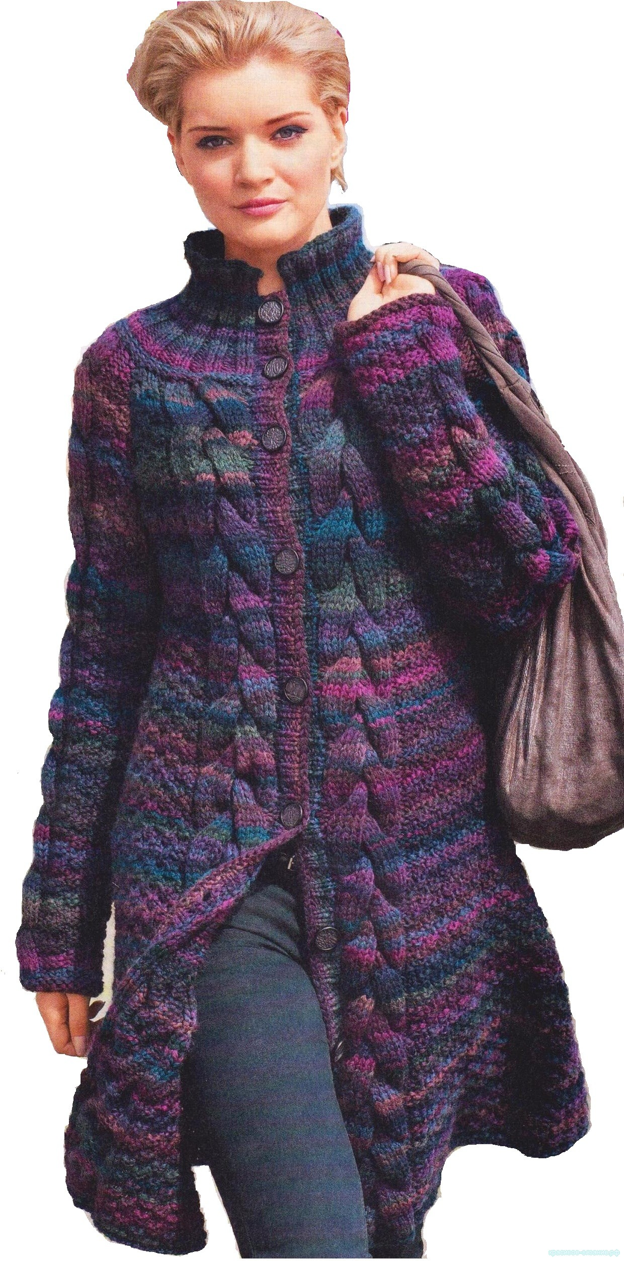 Меланжевое пальто
