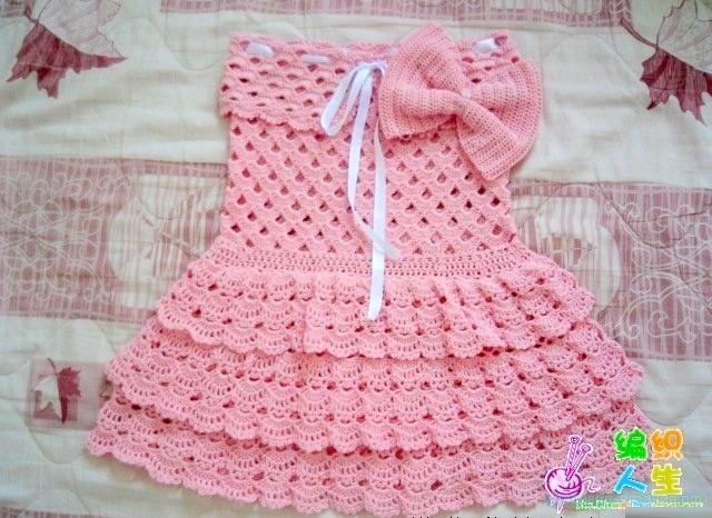 Схема детского платья крючком