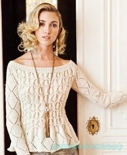 Пуловер Smoked pullover (модель 2, Vogue knitting holiday 2012)