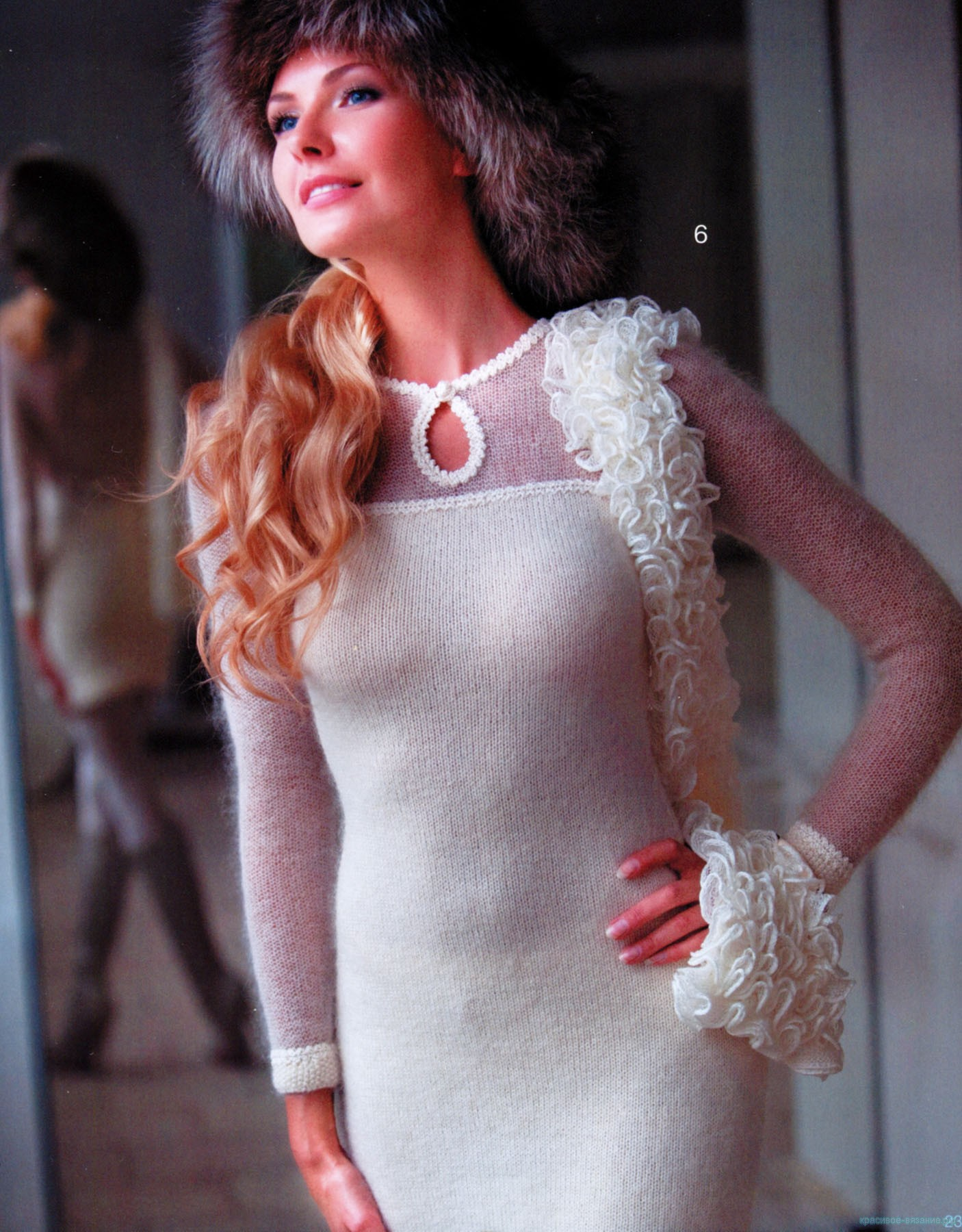 Платье спицами. Автор - Светлана Абрамочкина