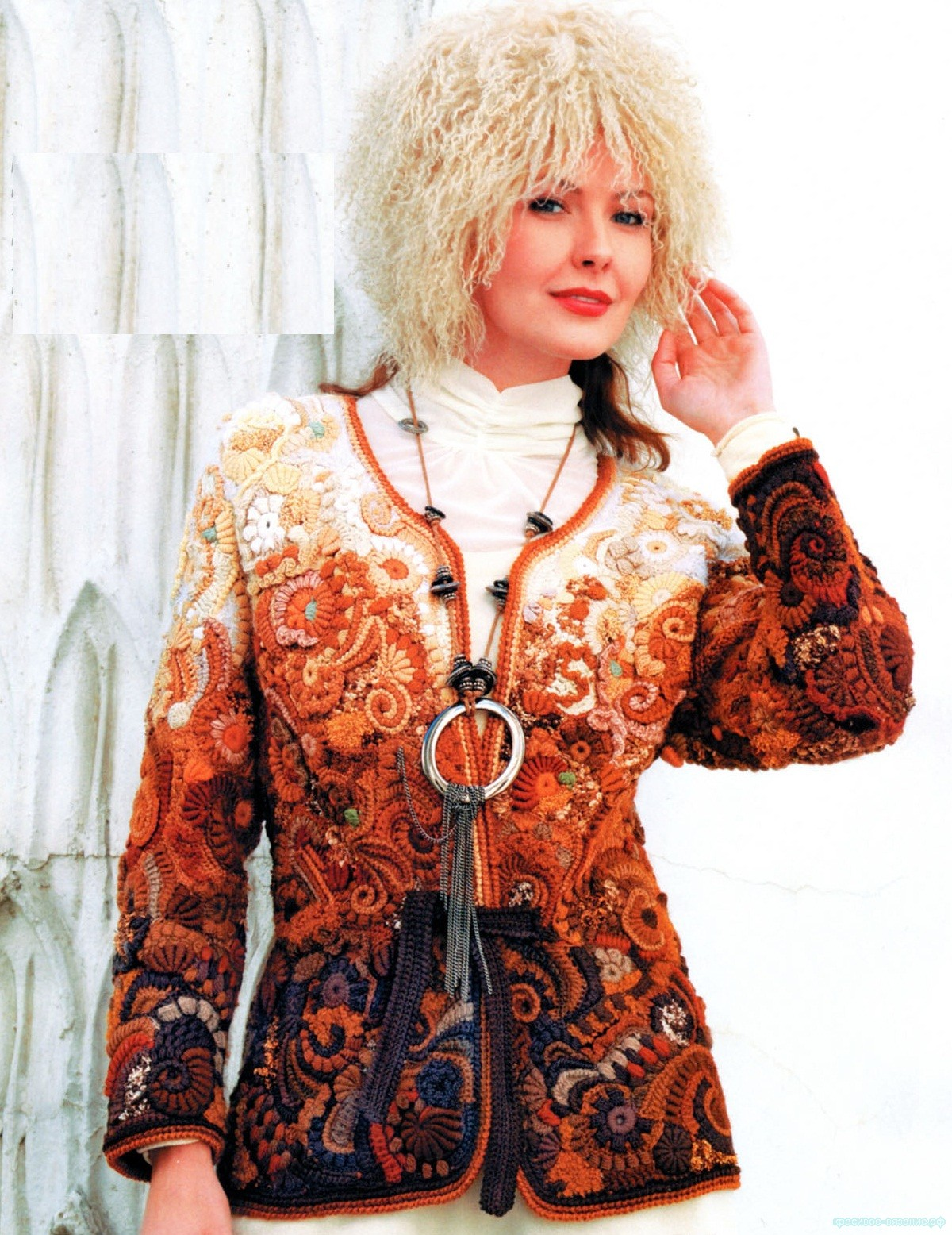"Жакет на тему ""Музыка  Равеля"". Автор Елена Синюкова"