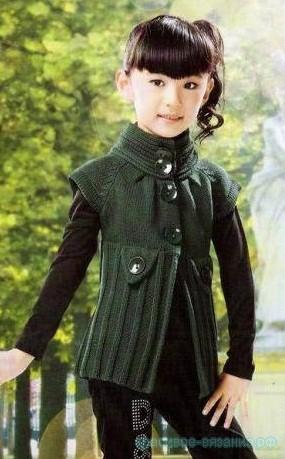 Жакет с коротким рукавом для девочки