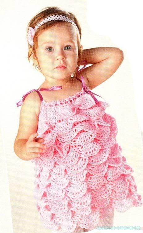 Детское платье с оборками