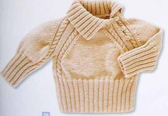 детский пуловер спицами