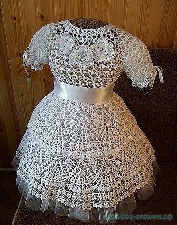 Платье Снежинка крючком от p_tasha