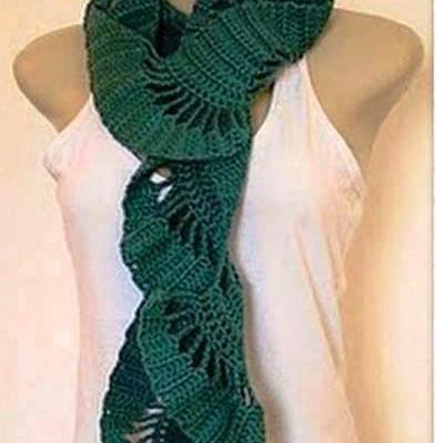 шарф крючком