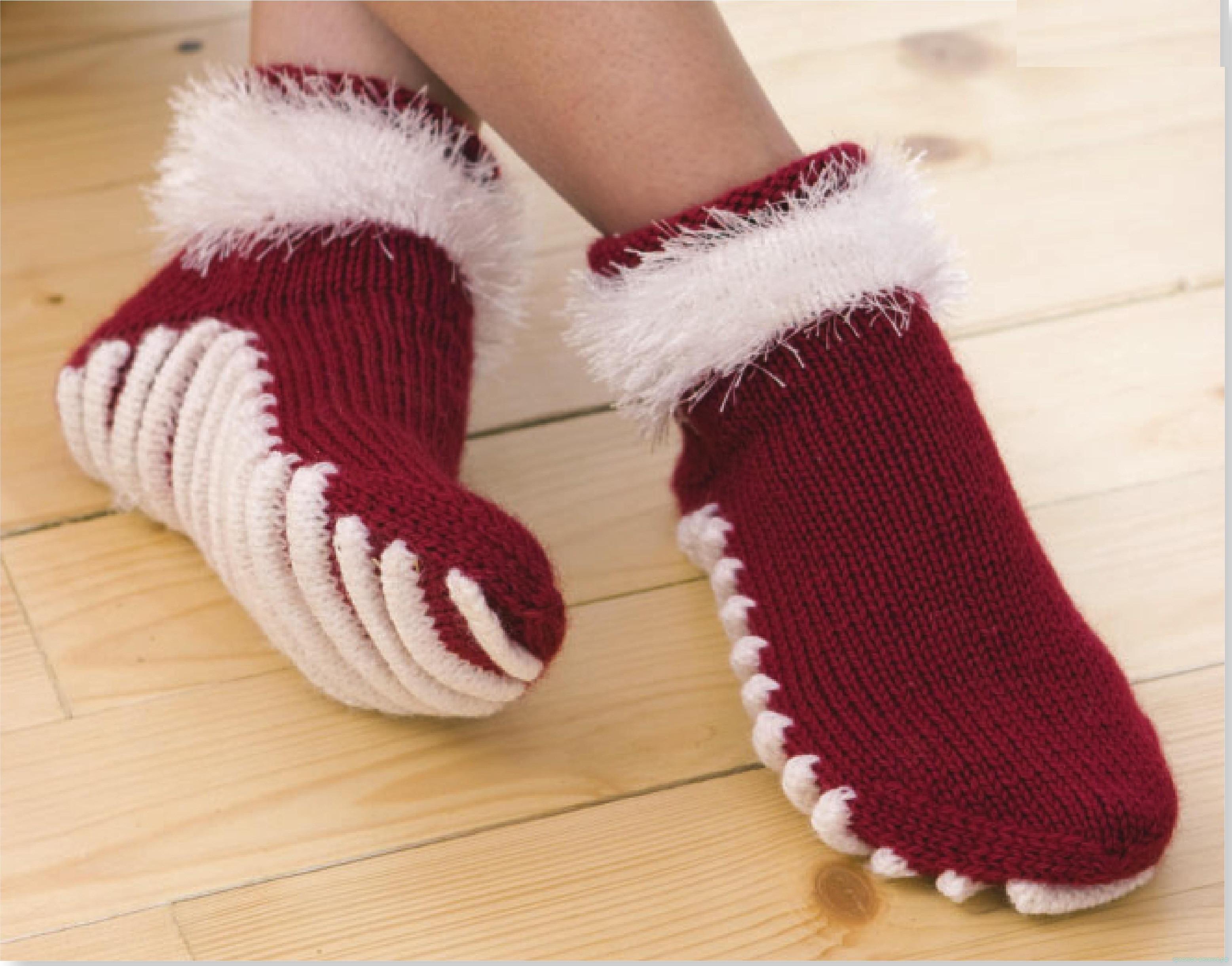Носки с рифленой подошвой