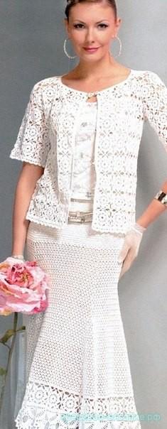 Женский костюм крючком