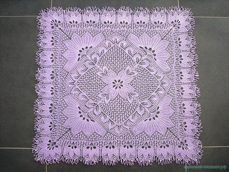 Квадратная скатерть — шаль