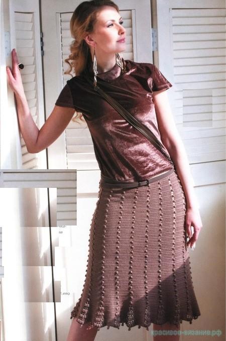 юбка крючком