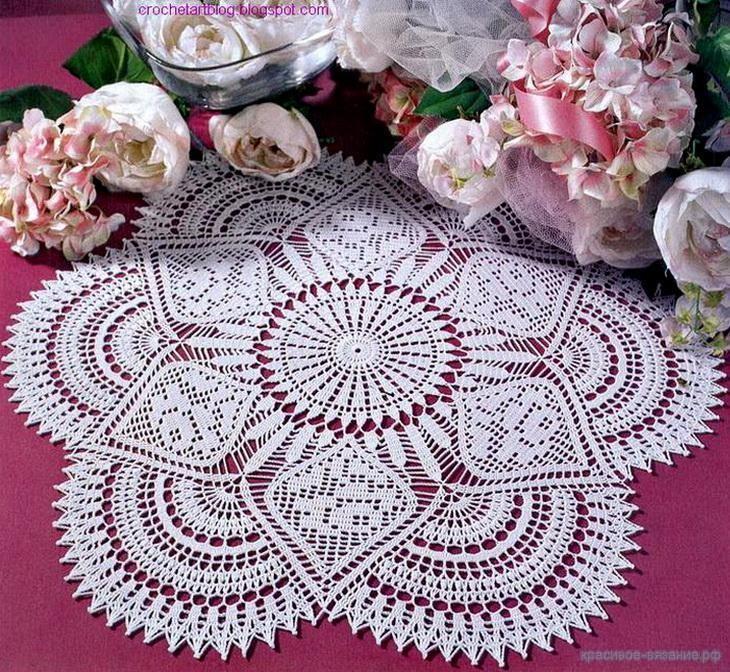 crochet tablecloth 18
