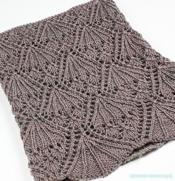 Ажурный шарф-хомут «Элеанор» спицами