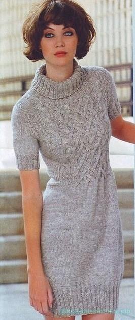 Платье с плетеным узором