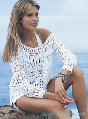 Пляжный пуловер