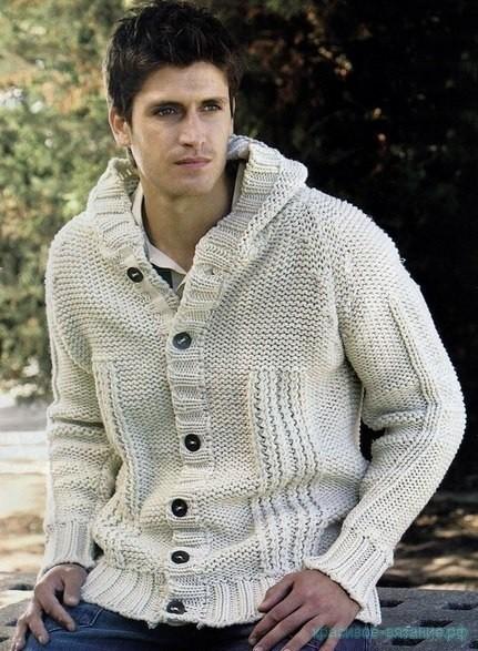 свитер спицами для мужчин