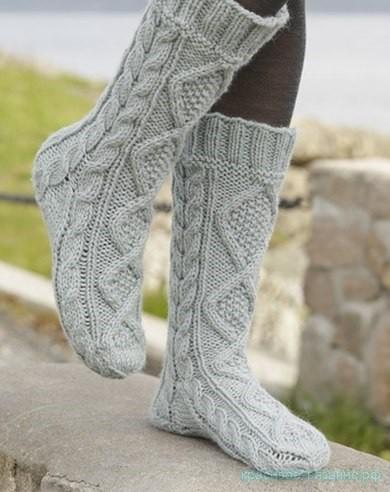 Носки с аранами от Дропс