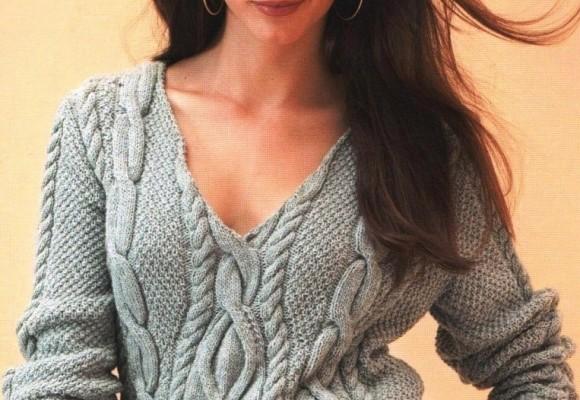 свитер спицами для женщин