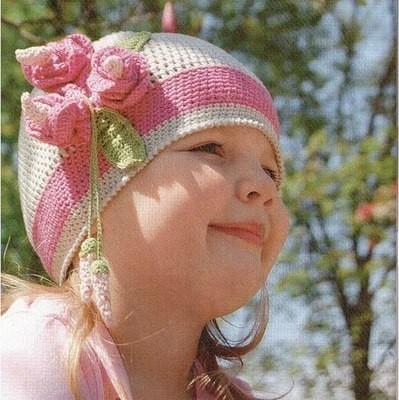 вязаная крючком шапочка для девочки