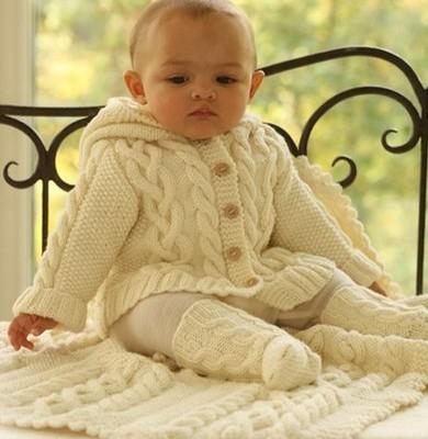 жакет спицами для малыша