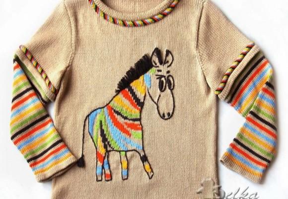 """针织儿童套衫""""斑马彩虹"""" - maomao - 我随心动"""