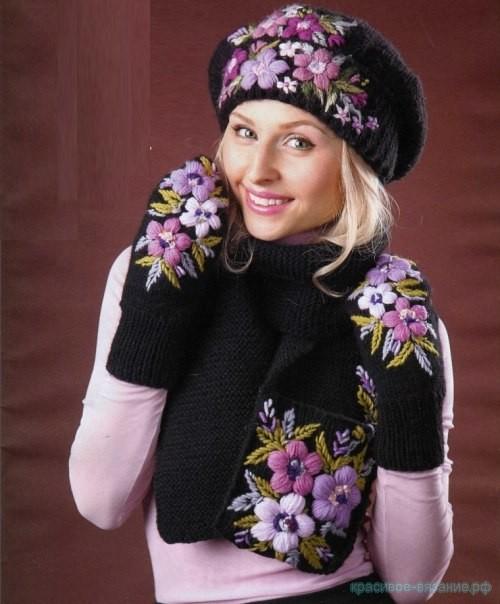 Зимний комплект с вышивкой