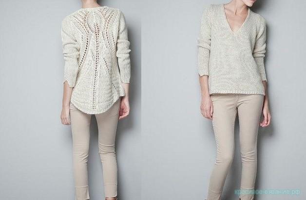 Пуловер с ажурной спиной от Zara