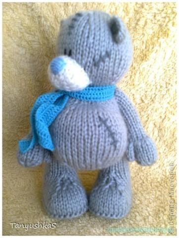 Вязание спицами Мишка Тедди.