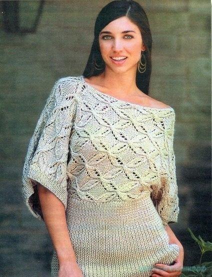 """Пуловер """"Цветочный узор"""""""