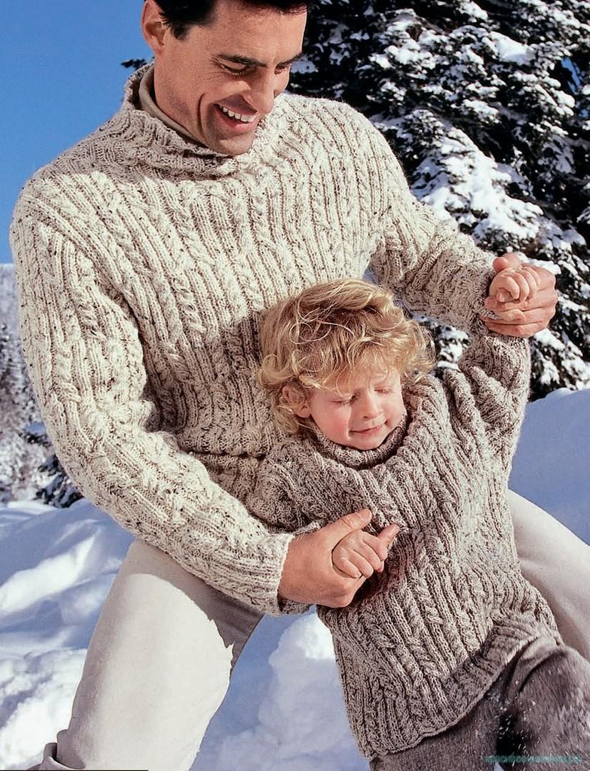 Вяжем мужской свитер.