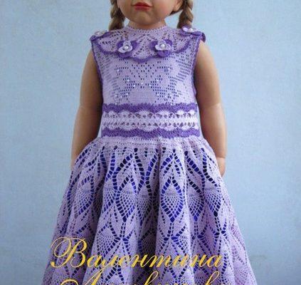 вяжем детское платье крючком
