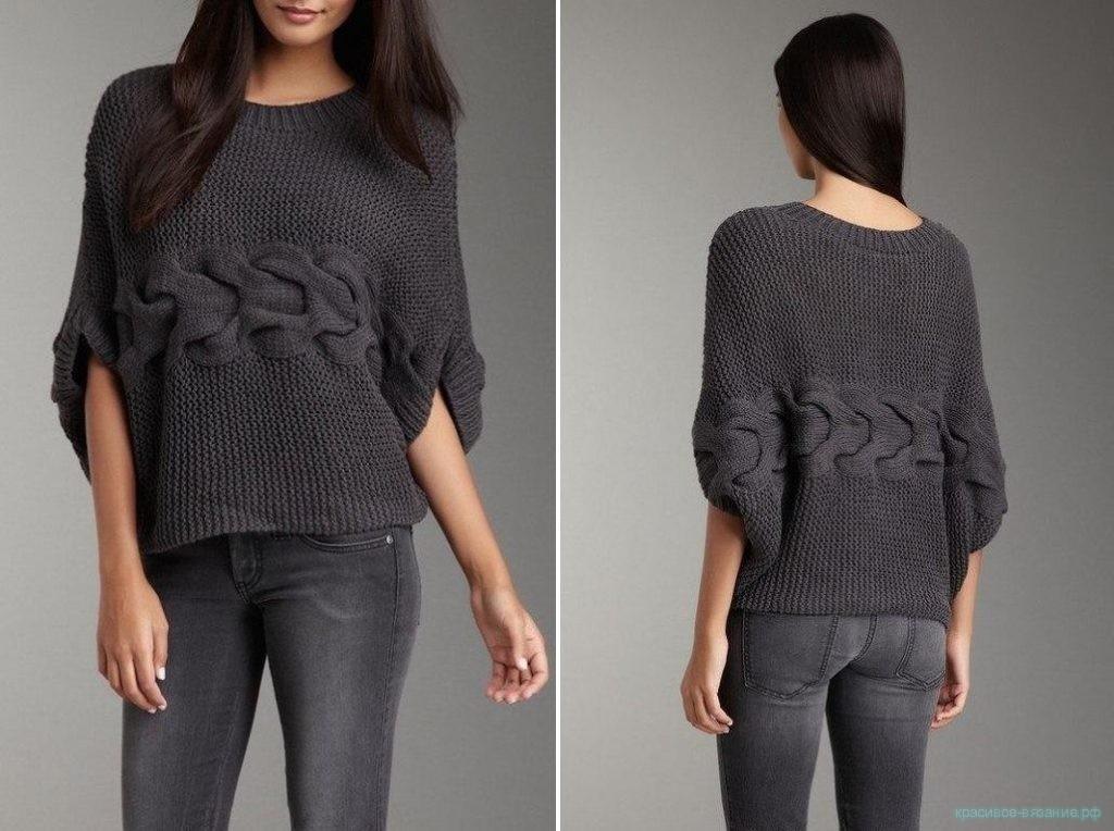 модный свитер спицами связать