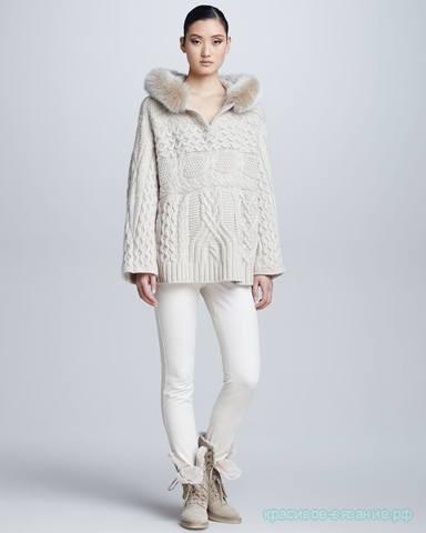 Потрясающий пуловер  Анорак от Loro Piana: силуэт Relax