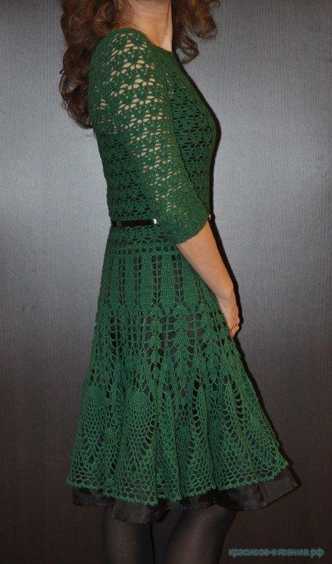 Стильное платье крючком.