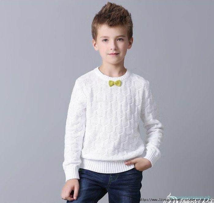 свитер спицами для мальчика