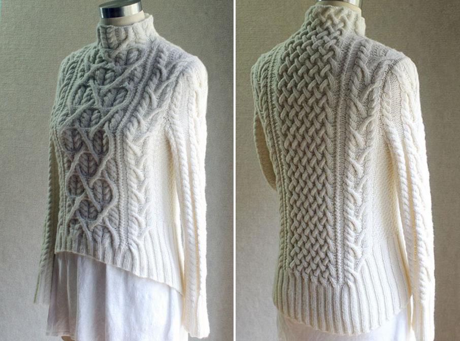 Красивый свитер спицами